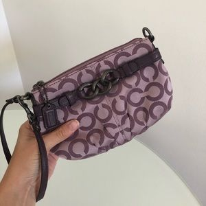 COACH OP Art BROOKE Sateen Wristlet - NEW